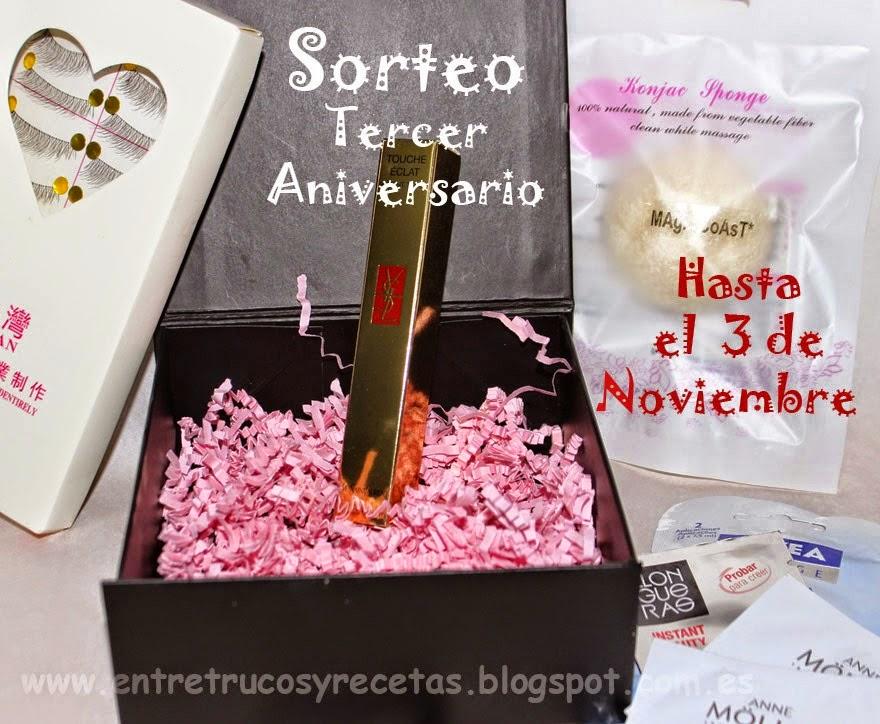 Maria Jose está de sorteo por su cumpleblog