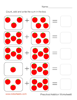 math worksheet : kidz worksheets preschool addition worksheet8 : Free Printable Math Addition Worksheets For Kindergarten