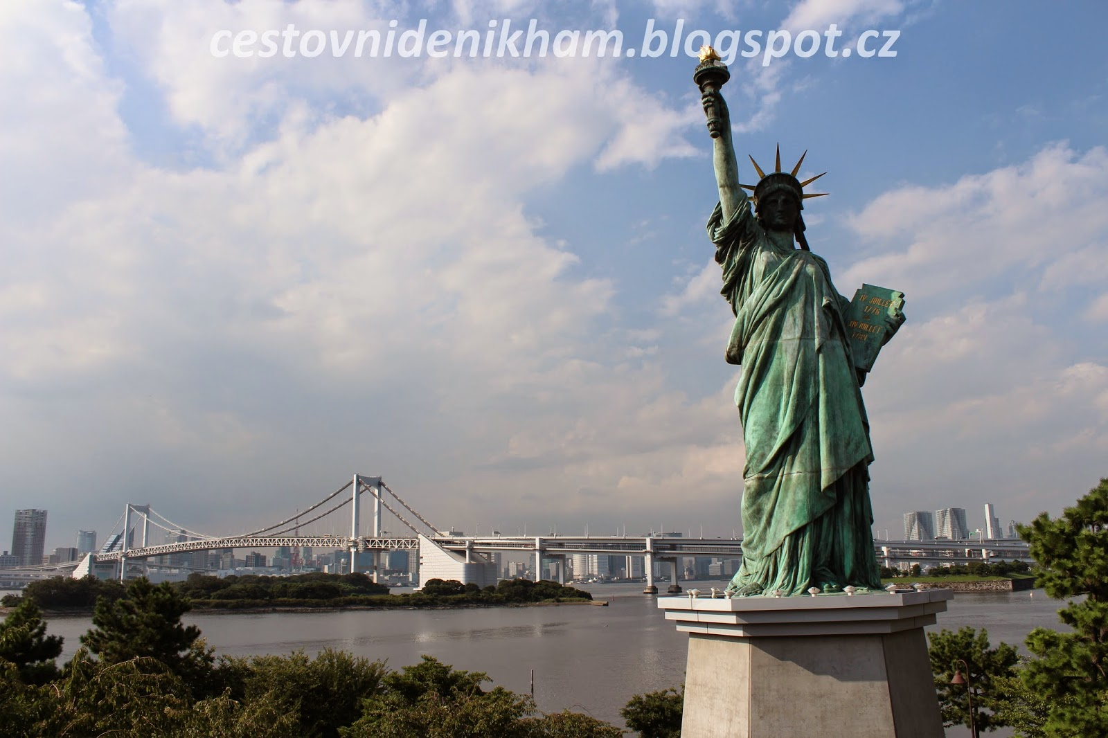 The Statue of Freedom and Rainbow Bridge