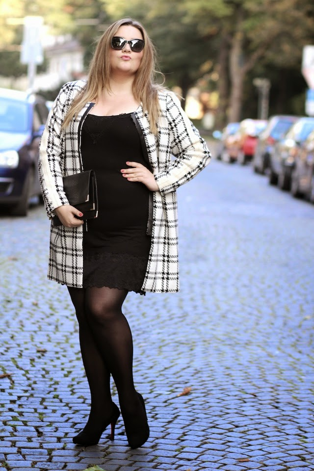 Plus Size Outfit Mantel Spitzenkleid Plus Size Blog Deutschland