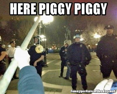 Here Piggy Piggy Funny Fishing For Cops With Doughnut