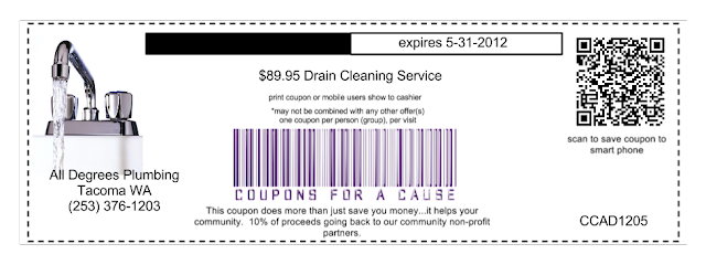 drain cleaning plumbing coupon tacoma wa