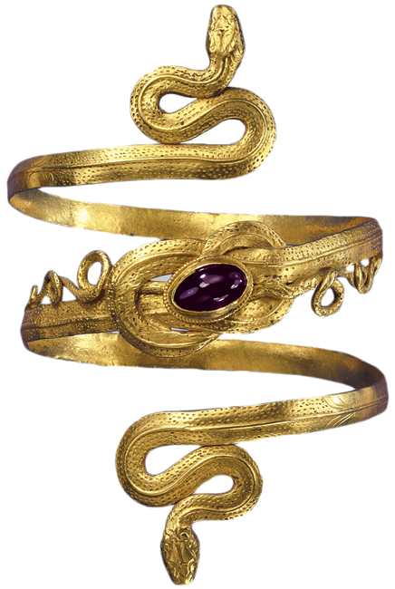 Bracelet hellénistique 300 ac . Pforzheim Jewelry Museum