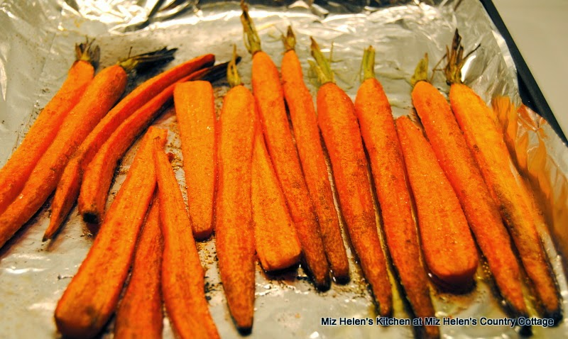 Spicy Glazed Carrots, Roasting  at Miz Helen's Country Cottage