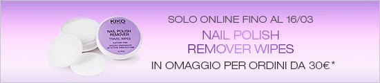 KIKO - Nail Polish Remover Wipes in omaggio