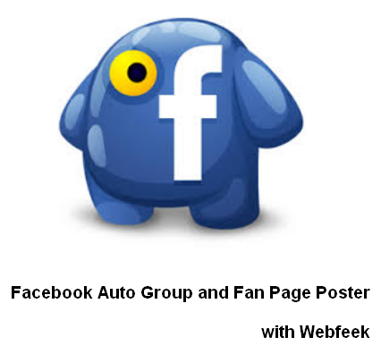 Facebook Auto Group and Fan Page Poster