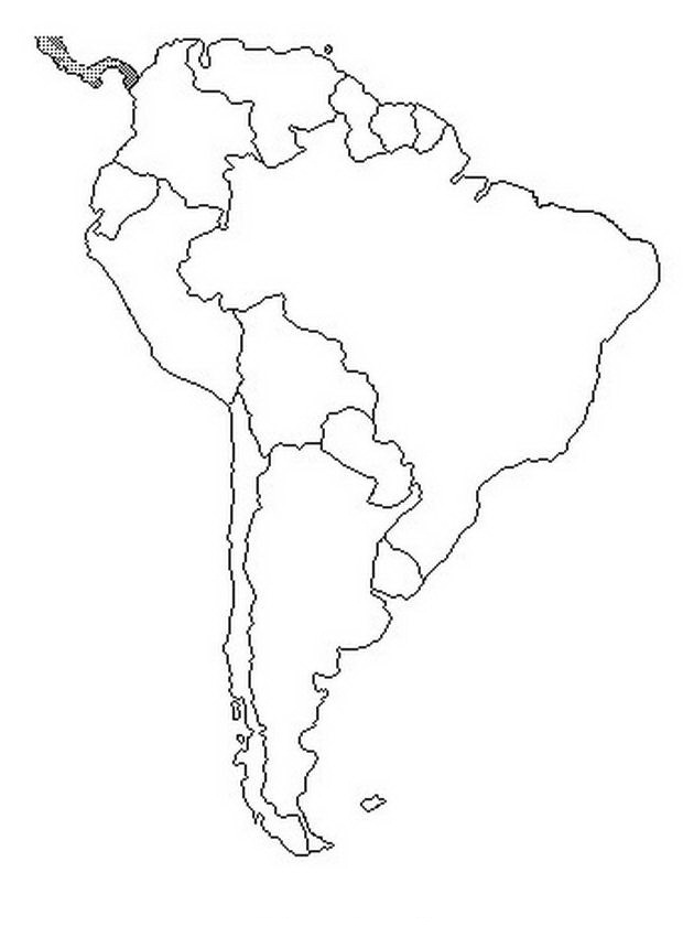 south america coloring map