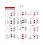 CALENDARI DE SOPARS 2012