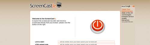 Screen Castle - Gravar vídeos online