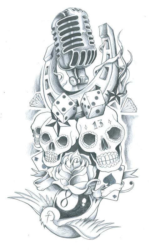 free pin up girl tattoo flash tattoos ideas. Black Bedroom Furniture Sets. Home Design Ideas
