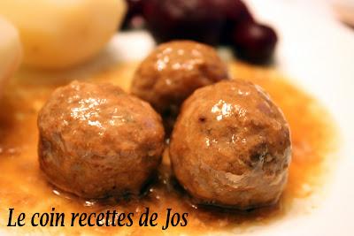recettes  RAGOÛT DE BOULETTES À LA MIJOTEUSE