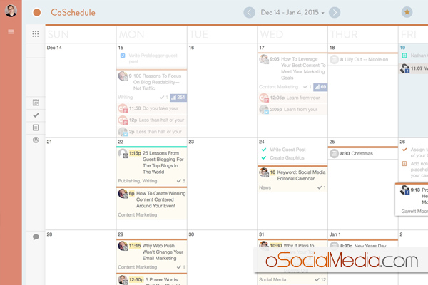 Social Media Calendar With CoSchedule