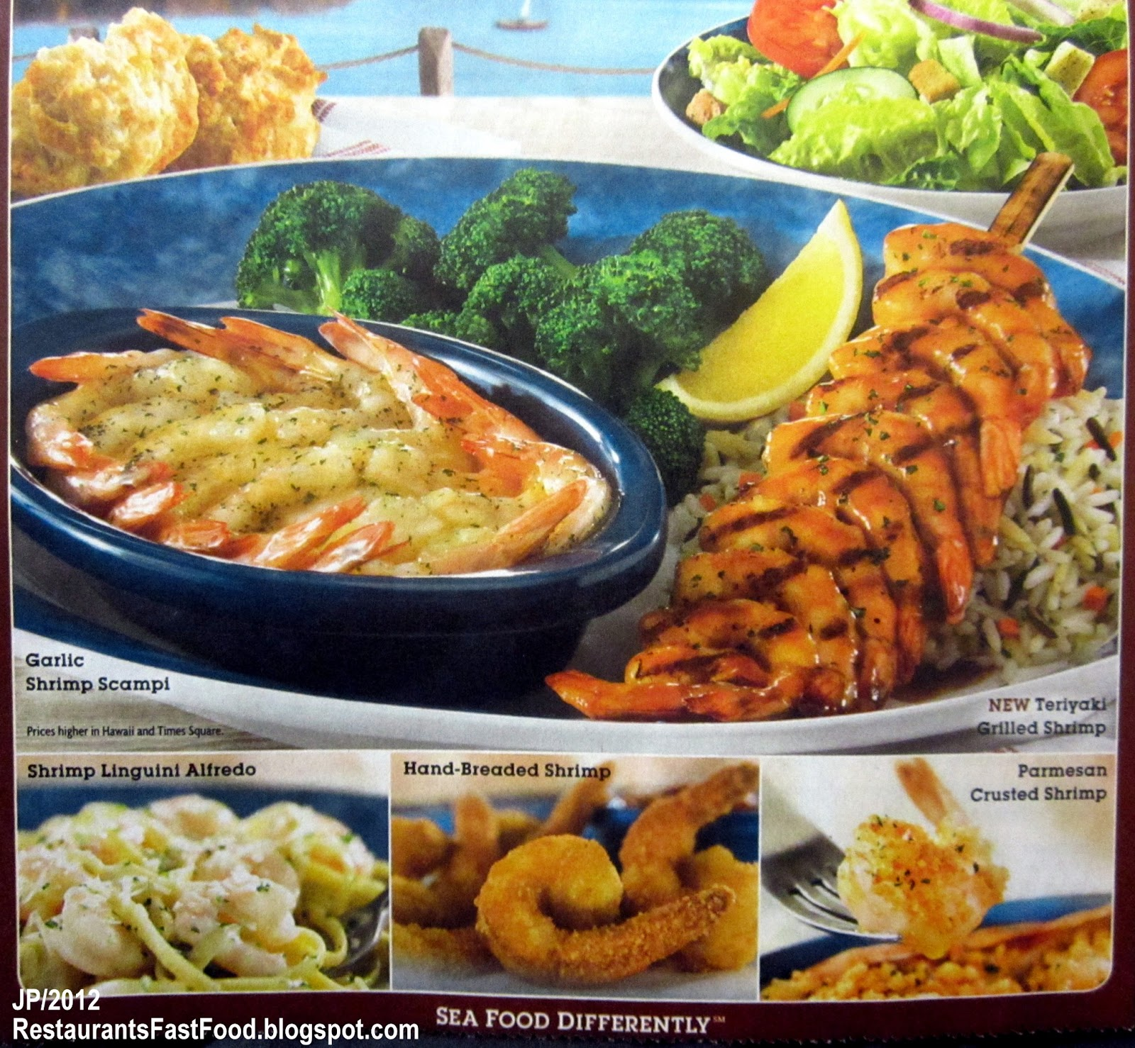 Red Lobster Seafood Restaurant Endless Shrimp Promotion All You Can Eat Fried Teriyaki Scampi Parmesan