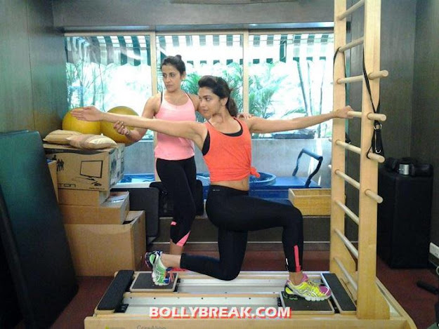 Deepika Padukone  Gym workout Photo - Deepika Padukone Unseen Gym Workout Photo