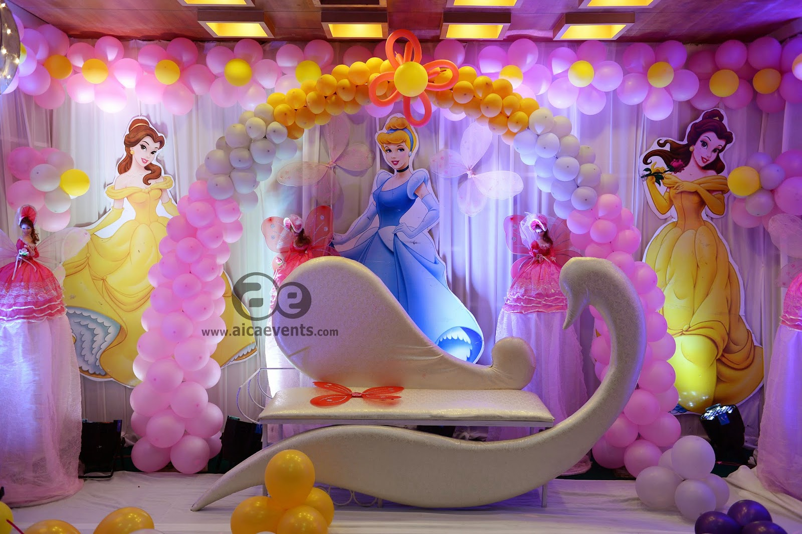 Aicaevents barbie theme decorations by aica events for 1st birthday hall decoration ideas