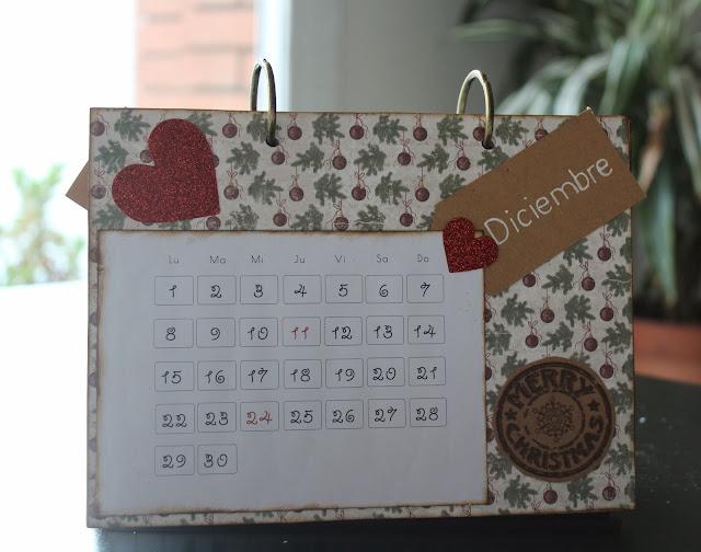 Calendario scrapbooking diciembre