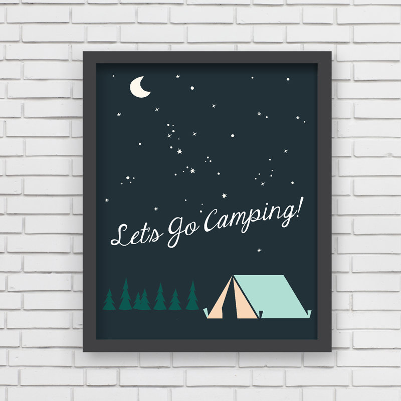 Let's Go Camping Print by Lucy Darling Prints on Etsy