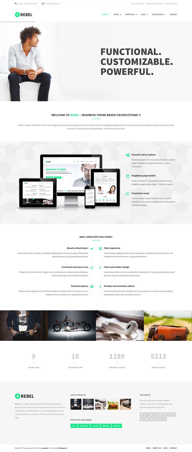 Best WordPress Bootstrap Theme