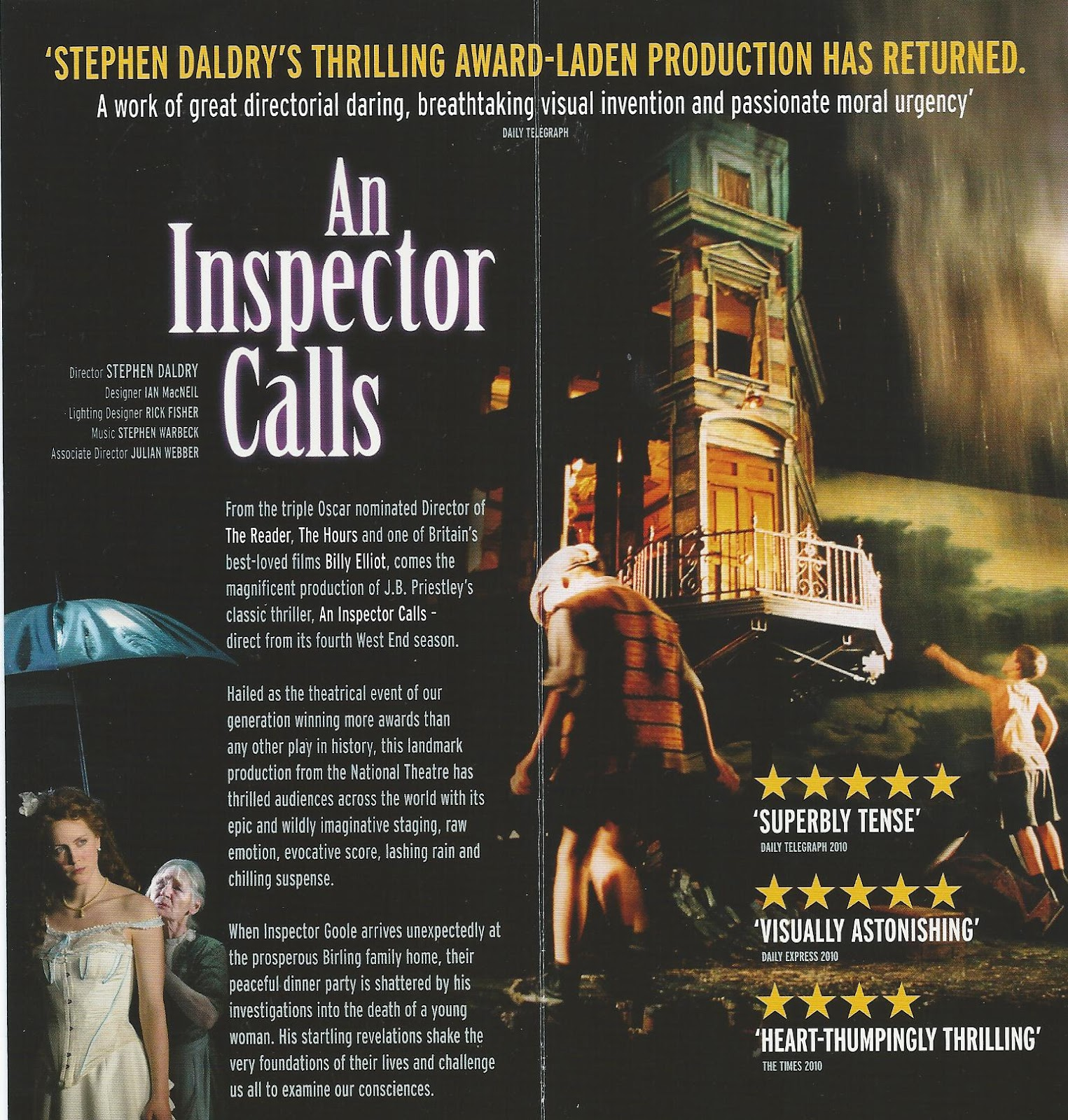 moral messages in an inspector calls by An inspector calls study guide contains a biography of jb priestley, literature essays, quiz in this fascinating excerpt, the inspector outlines the nature of the moral crime the birlings and these papers were written primarily by students and provide critical analysis of an inspector calls by jb.