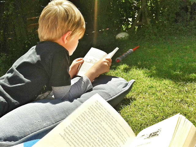Project 365 2015 day 158 - Reading in the sun // 76sunflowers