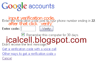 Input Code Verification - Protect Google Account With 2-Step Verification