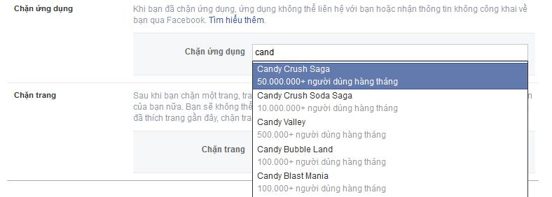 chặn mời chơi game facebook