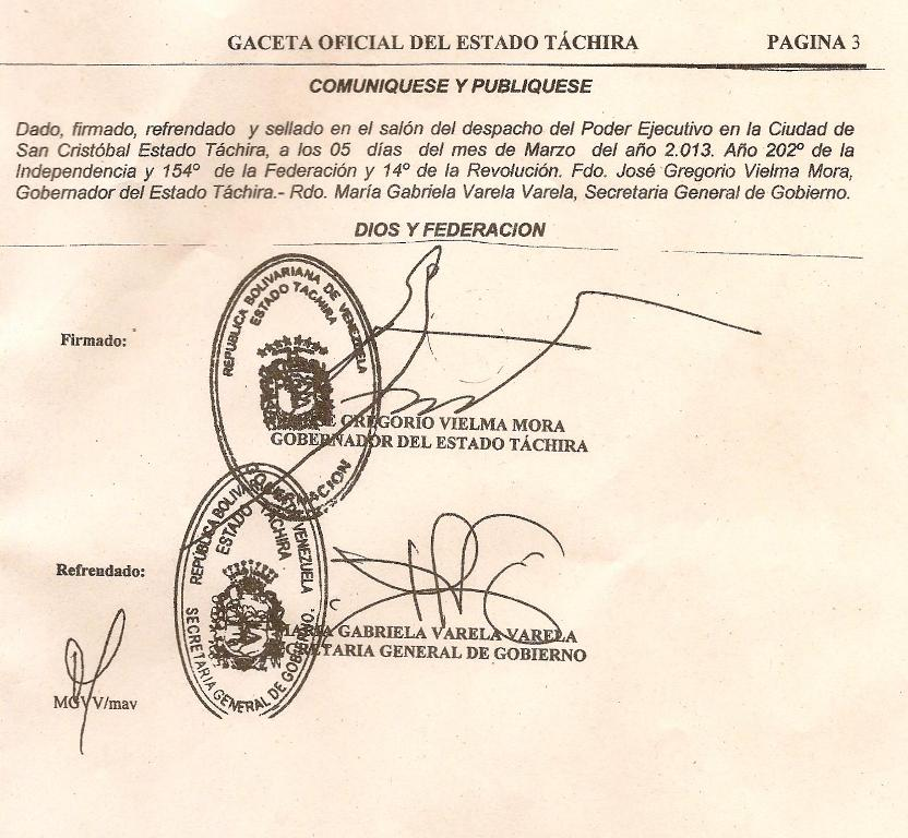 gaceta oficial gobierno: