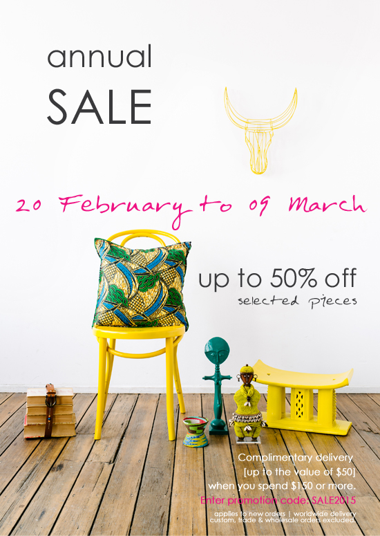 Safari Fusion blog | Annual SALE starts today | Up to 50% off selected African art, crafts + homewares
