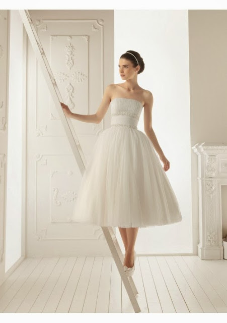 tea length wedding gown