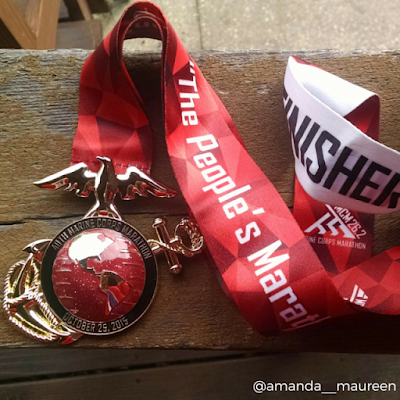 26.2, Marathon, Marine Corps Marathon, Race Recap, Run with the Marines, running, finisher medal