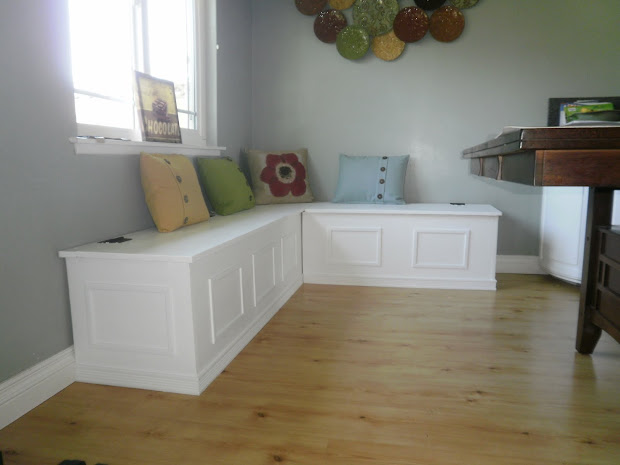 Kitchen Tables with Storage Bench Seating