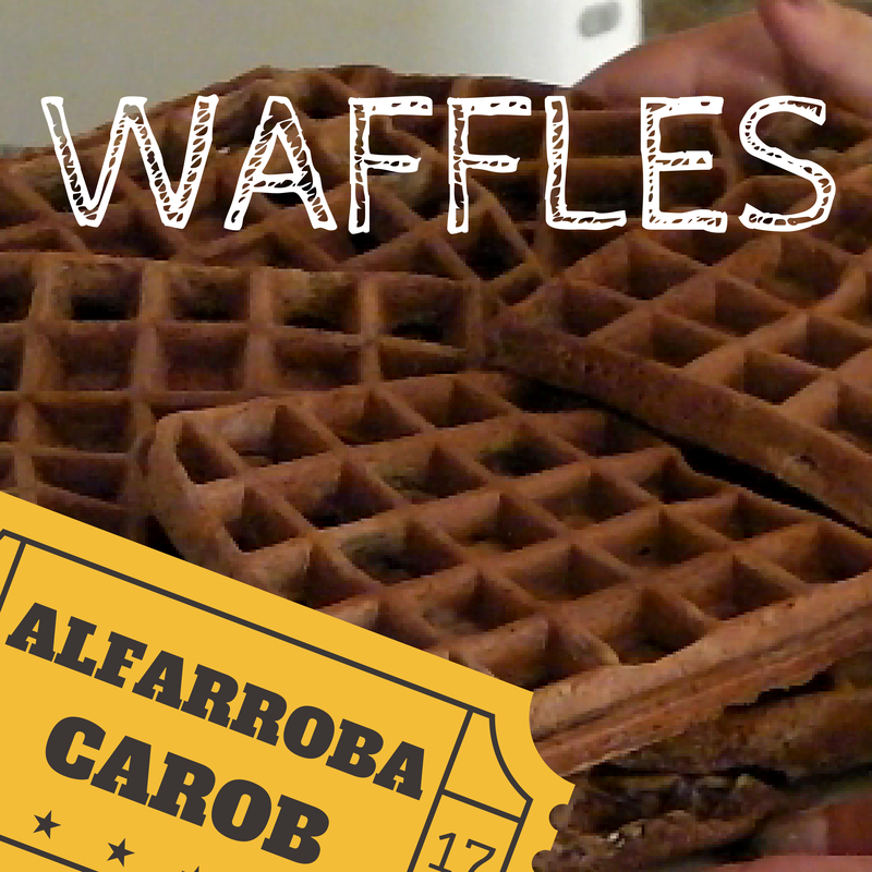 Carob and goat milk waffles