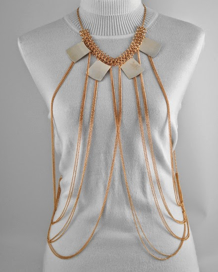 gold necklace cheap body chain jewelry
