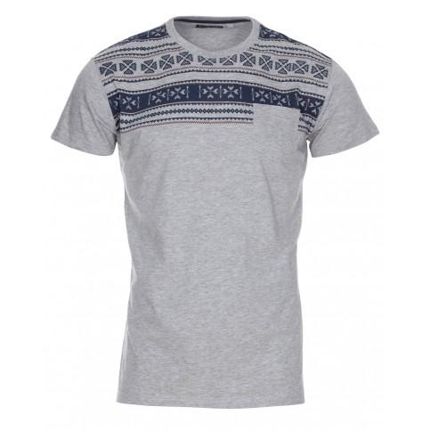 Men's Blue Inc Aztec Grey Marl T Shirt