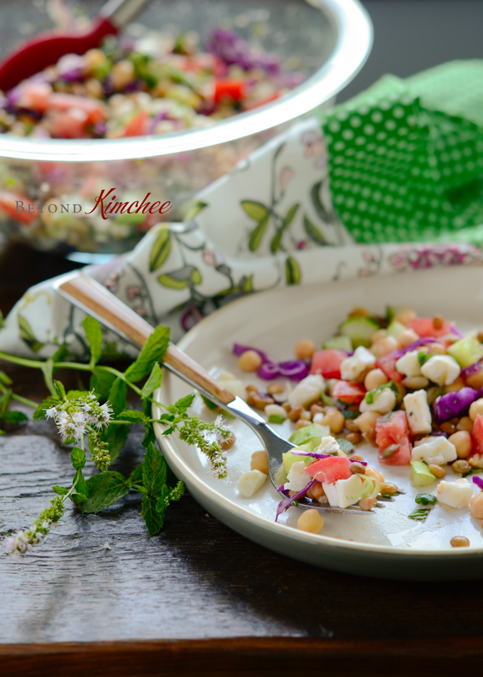 Chickpea and Lentil Salad 8 | Korean Recipes