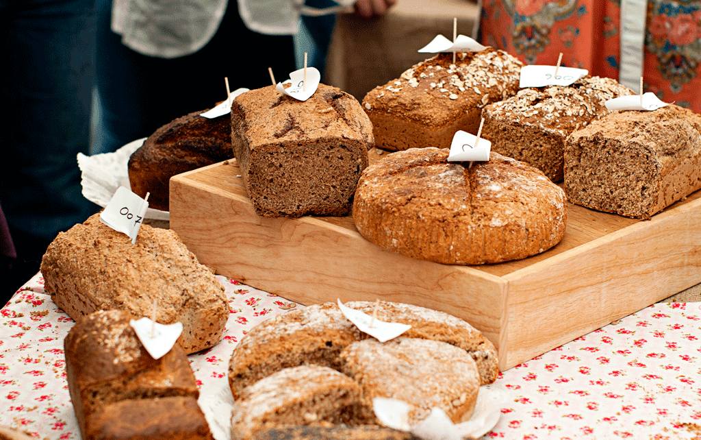 breads entered in the Sheridans Irish Food Festival Brown Bread Competition; Irish Food