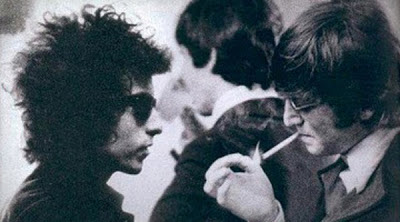 Lennon and Bob Dylan's Messy Hair
