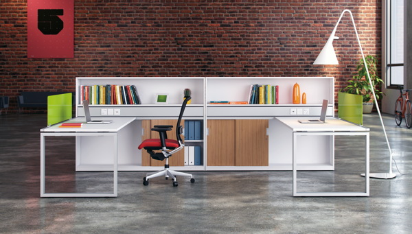 Office furniture render