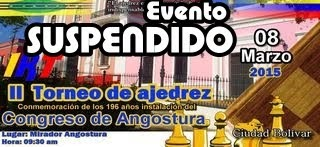 EVENTO SUSPENDIDO