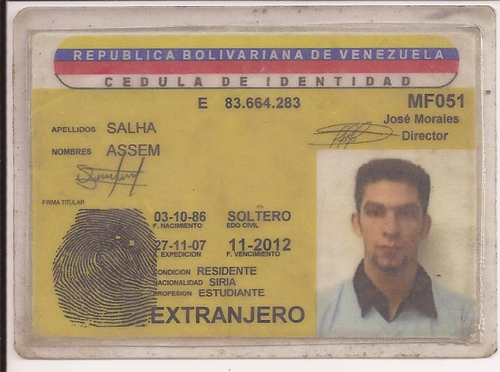 Kenneth rijocks financial crime blog hezbollah with official those venezuelan officials who have ethnic roots in the middle east assist in securing identity cards known as cdulas and venezuelan passports pronofoot35fo Gallery