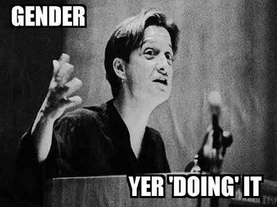 Meme of Judith Butler