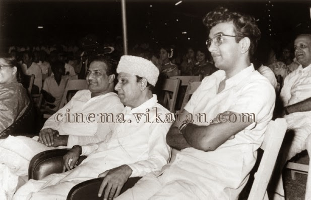MGR with N.T. Ramarao & 'Cho' Ramaswamy in a Cinema Function