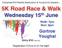 Popular 5k race nr Youghal in East Cork...Wed 15th June