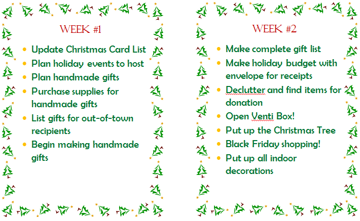 i included in my holiday binder im just too happy to share them with you along with explanations of list items that might seem a bit strange to you