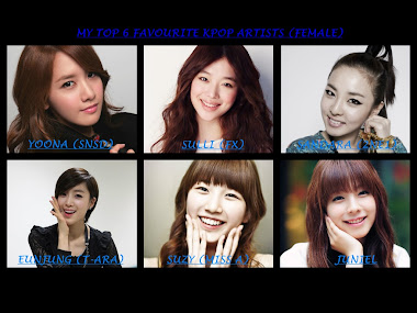 MY FAVOURITE KPOP ARTISTS (FEMALE)