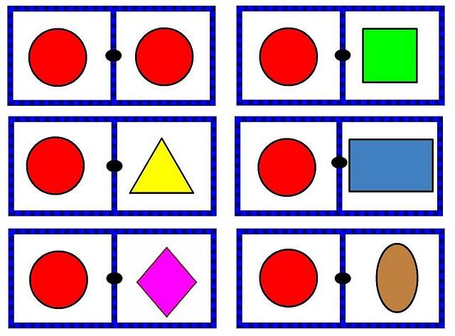 Mi Escuela Divertida Juego De Domino Figuras Geometricas