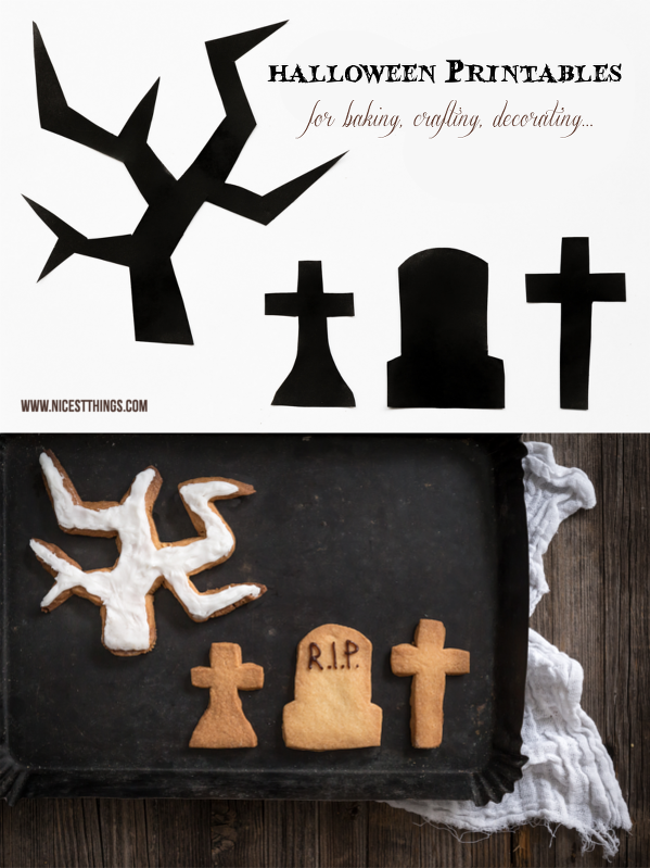 Halloween Graveyard Printables For Baking, Crafting, Decorating