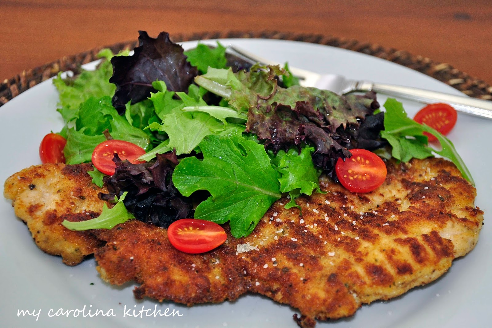 ... : Barefoot Contessa's Parmesan Chicken topped with Salad Recipe
