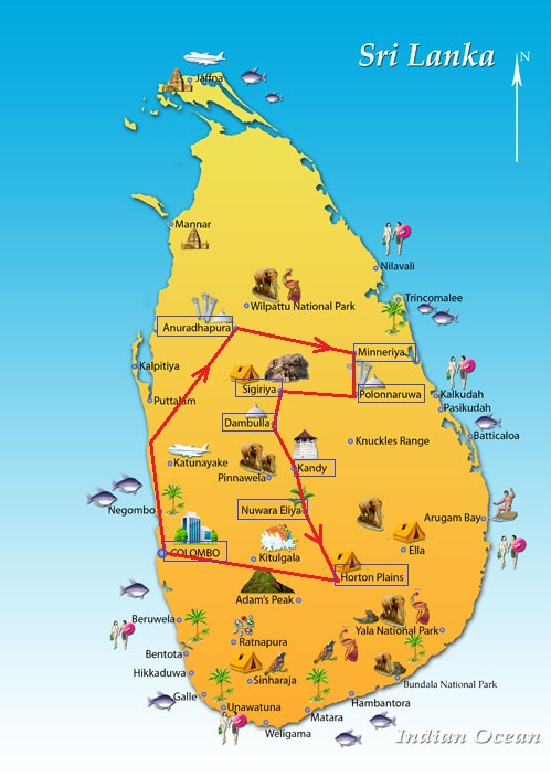 minneriya national park map