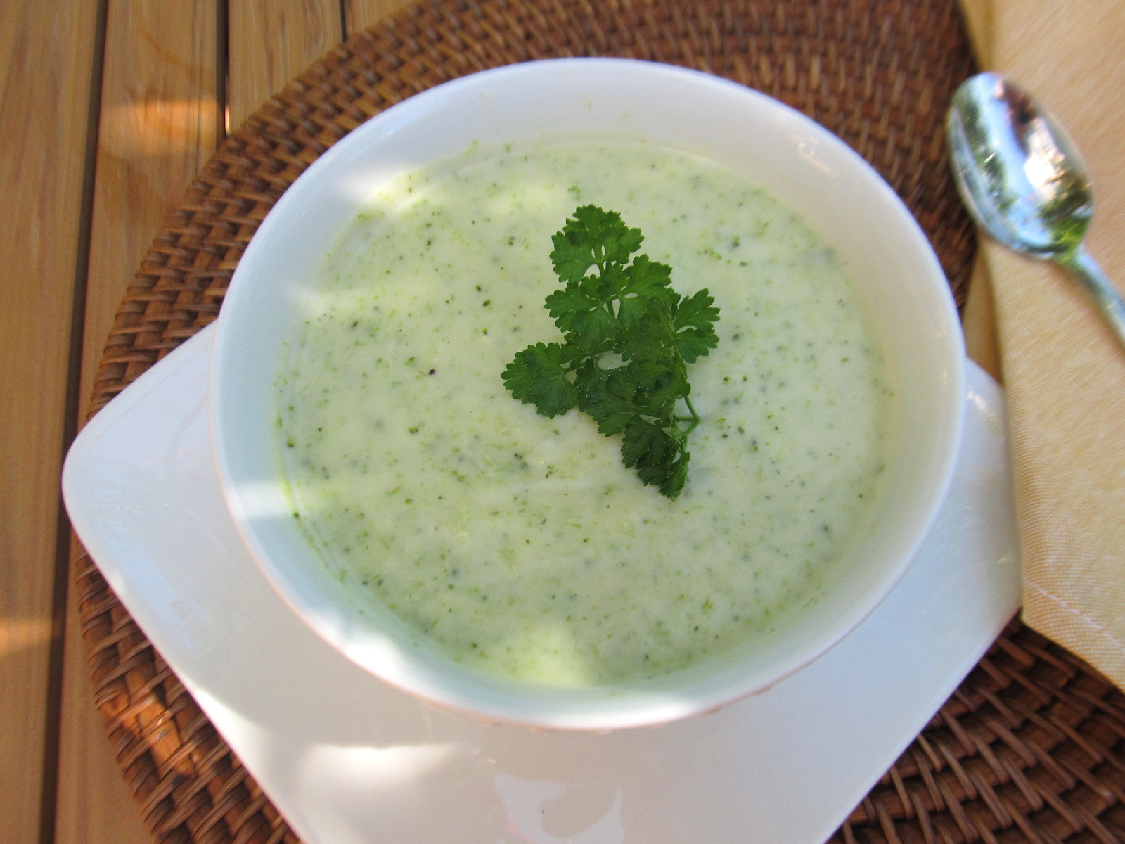 Food and Thrift: Cream of Broccoli Soup...for Wordless Wednesday